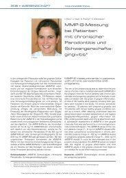 MMP-8-Messung bei Patienten mit chronischer ... - Zahnheilkunde.de