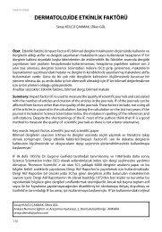 dermatolojide etkinlik faktörü - ULAKBİM Ulusal Veri Tabanları