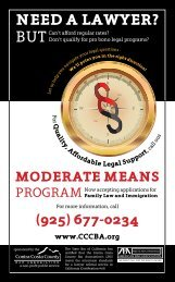 moDeRATe meANS PRogRAm - Contra Costa County Bar Association