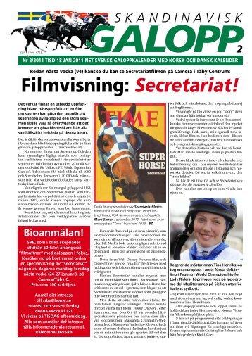 Filmvisning: Secretariat! - Øvrevoll Galoppbane