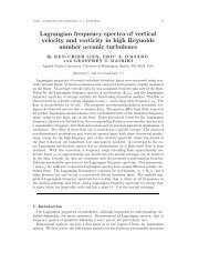 Lagrangian frequency spectra of vertical velocity and vorticity in high ...
