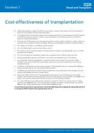 Cost-effectiveness of transplantation - Organ Donation