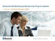 Bluetooth SIG Marketing & Membership Program Updates