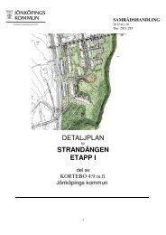 DETALJPLAN STRANDÄNGEN ETAPP I - Jönköpings kommun