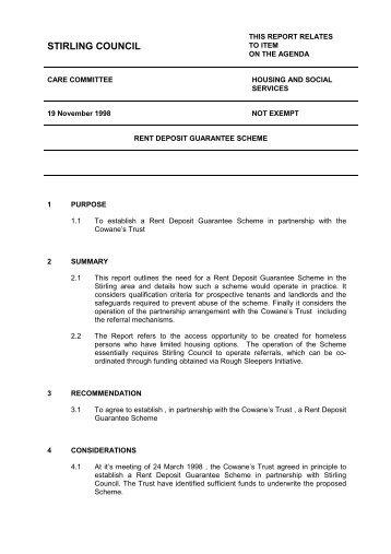 ca111 rent deposit guarantee scheme