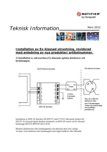 Teknisk Information - Notifier