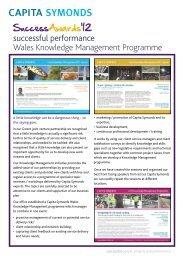Wales Knowledge Management - Capita Symonds