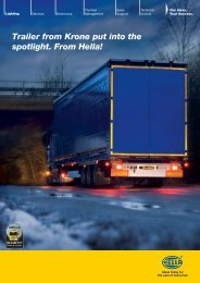 Trailer from Krone put into the spotlight. From Hella! - hella.shop.hu