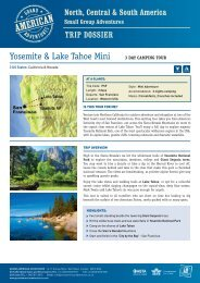 Yosemite & Tahoe Mini - Adventure holidays
