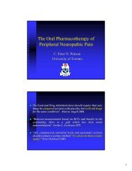 The Oral Pharmacotherapy of Peripheral Neuropathic Pain