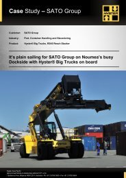 Case Study – SATO Group - Hyster Company