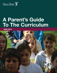 A Parent's Guide To The Curriculum - Glencoe School District 35