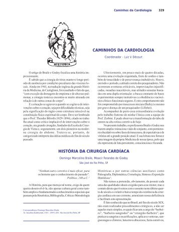 HISTÓRIA DA CIRURGIA CARDÍACA - Sociedade Brasileira de ...