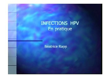 INFECTIONS HPV En pratique - GLOBE Network