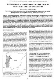 raising public~ awareness of geological heritage: a set of initiatives