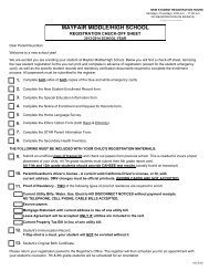 New Student Enrollment Packet - Bellflower Unified School District