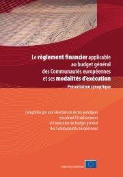Règlement (CE) financier applicable au budget général des ...