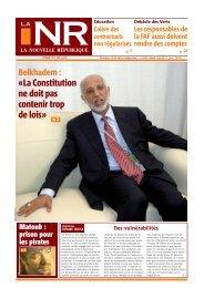 «La Constitution ne doit pas contenir trop de lois» - La Nouvelle ...