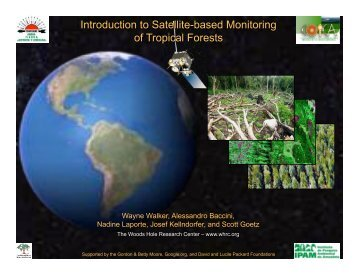 Introduction to Satellite-based Monitoring of Tropical Forests