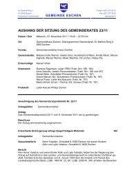 aushang der sitzung des gemeinderates 23/11 - Gemeinde Eschen