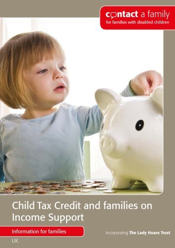 Child Tax Credit and families on Income Support - Contact a Family