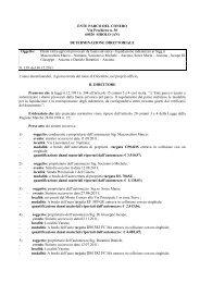 Leggi determina n. 159 - Il Parco del Conero