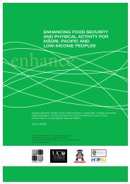 enhancing food security and physical activity for maori, pacific and ...