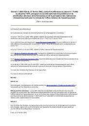 Décret n° 2002-524 du 27 février 2002, portant modification ... - REME