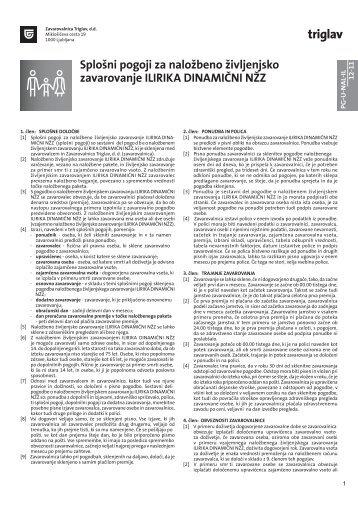 Splošni pogoji za investicijsko življenjsko zavarovanje ILIRIKA ...