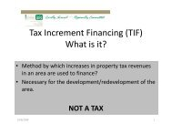 Tax Increment Financing (TIF) What is it?