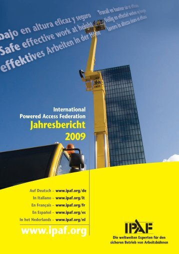 www .ipaf.org Jahresbericht 2009