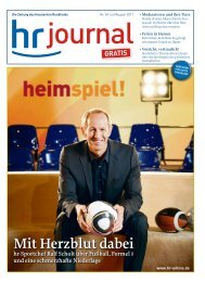 Die Zeitung des - Hessischer Rundfunk