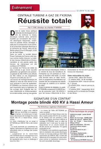 REVUE n°16.qxd - Ministère de l'énergie et des mines