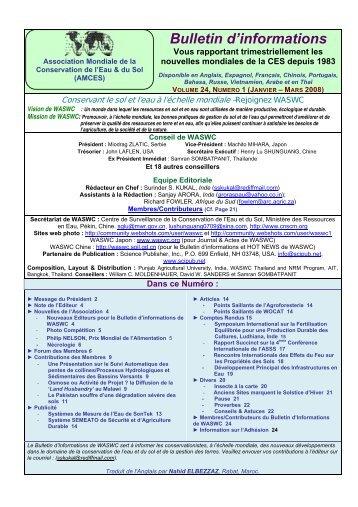 Association Mondiale de la Conservation du Sol & de l´ Eau - World ...