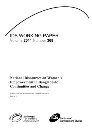 National Discourses on Women's Empowerment in Bangladesh