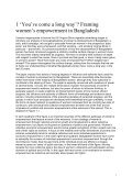 National Discourses on Women's Empowerment in Bangladesh - Page 7