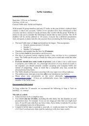 TuMo Guidelines