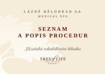 SEZNAM A POPIS PROCEDUR - Tree Of Life