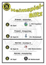 SC Opel : III SC Opel II : VFL Michelstadt 1. FFC Frankfurt Frauen ...