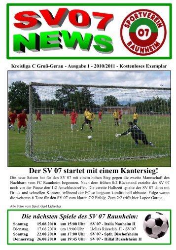 """Unsere """"Alten Herren"""" immer wieder aktiv! - SV 07 Raunheim"""