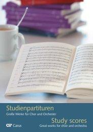 Studienpartituren 2012 - Carus-Verlag