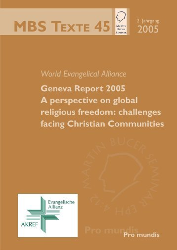 Geneva Report 2005 - Martin Bucer Seminar