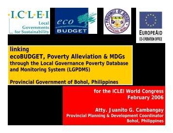CAMBANGAY ecoBUDGET and poverty alleviation [.pdf]