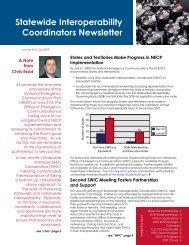 Statewide Interoperability Coordinators Newsletter - Emergency ...