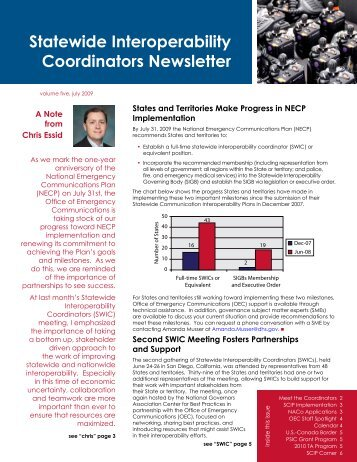Statewide Interoperability Coordinators Newsletter - Emergency ...