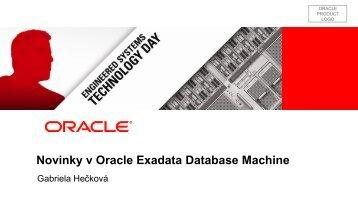 Novinky v Oracle Exadata Database Machine - ASBIS SK Online