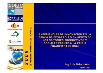 Ing. Luis Baba Nakao EXPERIENCIAS DE INNOVACIÓN EN ... - Alide