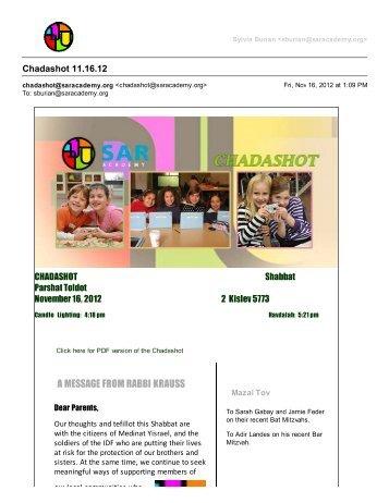 November 16, 2012 - SAR Academy