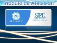 SIPE - Módulo de Afiliación - Caja del Seguro Social