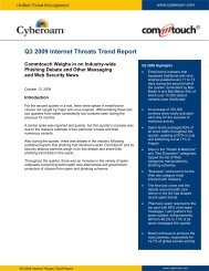 Cyberoam Q3 2009 Internet Threats Trend Report